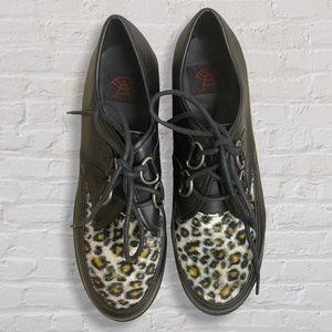 STRANGE CVLT Cheetah Print Platform Oxford Shoes